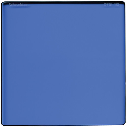 "Schneider 6.6 x 6.6"" Color Temperature Blue 1/2 Filter"