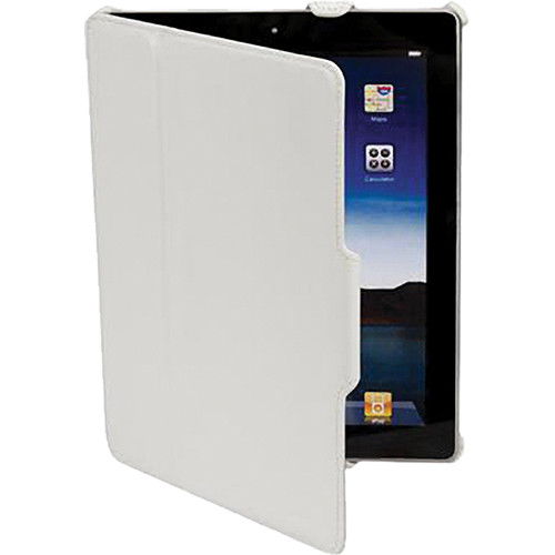 Scosche foldIO P2 - Leather Texture Folio Case for iPad 2nd and 3rd Generation (White)