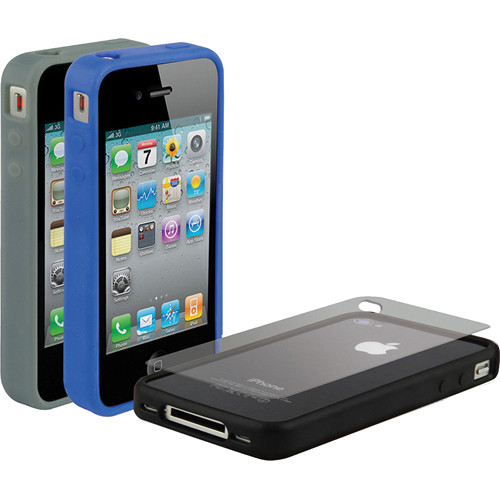 Scosche bandIT g4 - Rubber Edge Cases for iPhone 4S and 4 (Verizon, Sprint and AT&T)