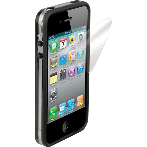 Scosche bandEDGE g4 - Clear on Black Polycarbonate & Rubber Edge Case for iPhone 4S and 4 (Verizon, Sprint and AT&T)