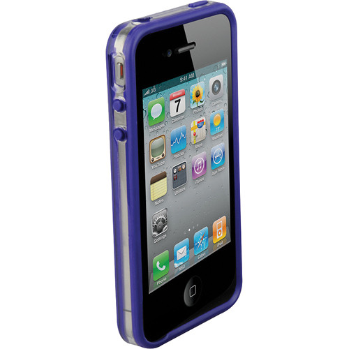 Scosche bandEDGE g4 - Clear on Purple Polycarbonate & Rubber Edge Case for iPhone 4S and 4 (Verizon, Sprint and AT&T)
