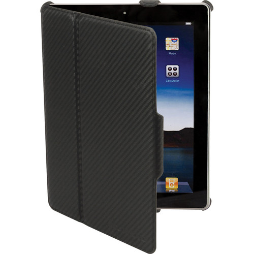 Scosche folio p2 - (Black Carbon Fiber Texture) Folio Case for new iPad and iPad 2 With Multiple Viewing Angles (Black)