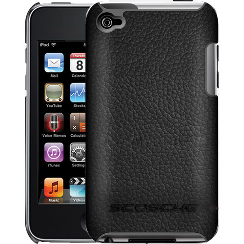 Scosche beefKASE t4 - Polycarbonate Case with Genuine Leather Exterior for iPod touch (Gen 4, Black)