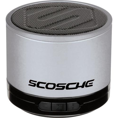 Scosche boomSTREAM mini - Portable Bluetooth Wireless Media Speaker (Silver)