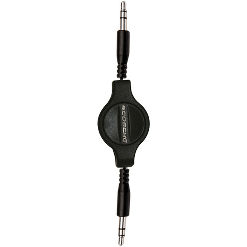 Scosche rePLAY - 3.5mm Retractable Audio Cable for iPod and MP3 (Black, 2.8')