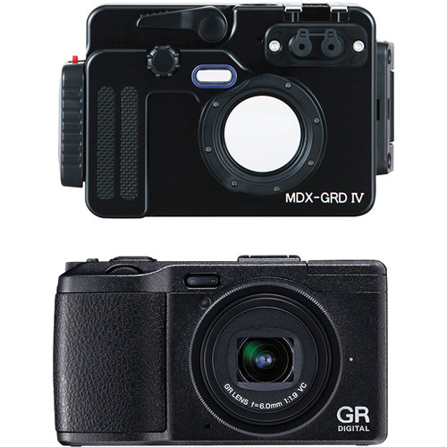 Sea & Sea MDX-GRD IV Underwater Housing with Ricoh GR DIGITAL IV Digital Camera Kit