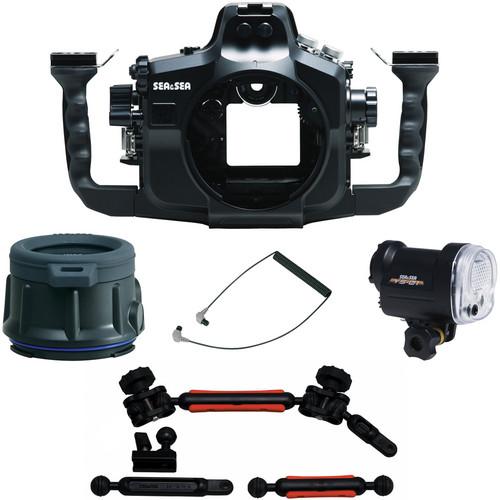 Sea & Sea MDX-7D UW Housing for Canon EOS 7D Flat Port Package W/YS-01 Strobe