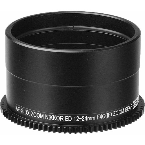 Sea & Sea Zoom Gear for Nikon AF-S DX Zoom NIKKOR ED 12-24mm f/4G (IF) Lens in Port on MDX or RDX Housing