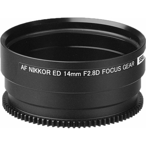 Sea & Sea Focus Gear for Nikon Ai AF NIKKOR ED 14mm f/2.8D Lens in Port on MDX Housing