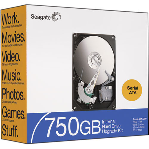 Seagate Barracuda 750GB SATA-300 Hard Drive - 16MB Buffer