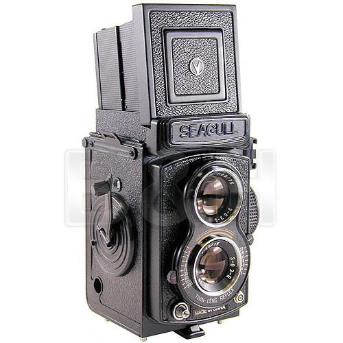 Seagull Guitars GC-105 Medium Format Twin Lens Reflex (TLR) Camera with Built-in 75mm f/3.5 Lens