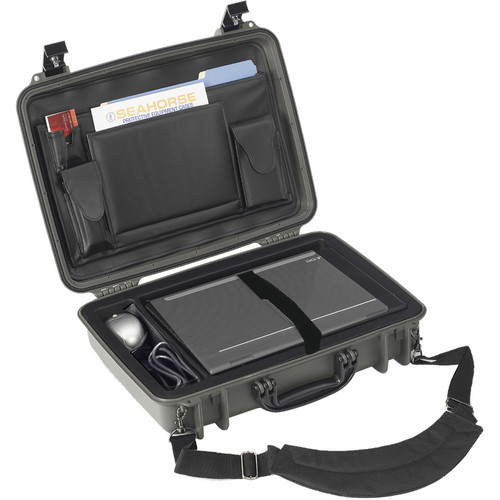 Seahorse 710CC Laptop Computer Case with Lid Organizer and Laptop Tray (Gunmetal Gray)