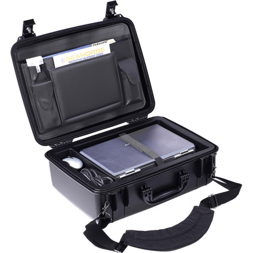 Seahorse 720CC Laptop Case with Lid Organizer and Laptop Tray (Black)