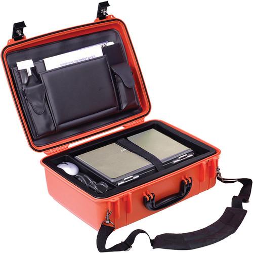 Seahorse 720CC Laptop Case with Lid Organizer and Laptop Tray (International Orange)
