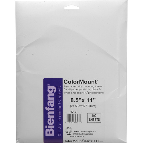 """D&K Colormount Dry Mounting Tissue - 8.5 x 11""""- 100 Sheets"""