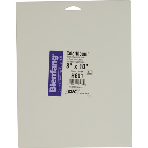 "D&K Colormount Dry Mounting Tissue - 8 x 10"" - 25 Sheets"