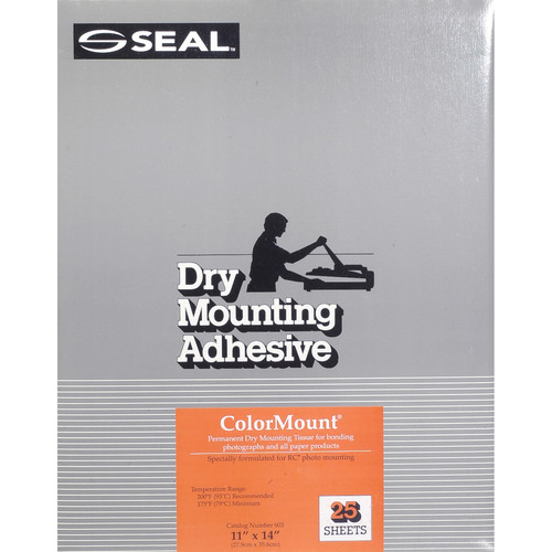 "D&K Colormount Dry Mounting Tissue - 11 x 14"" - 25 Sheets"