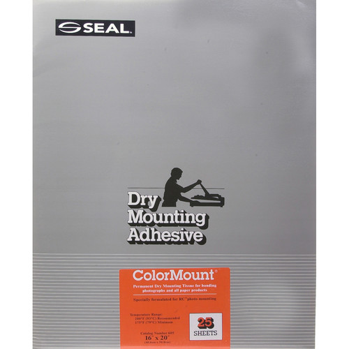 "D&K Colormount Dry Mounting Tissue - 16 x 20"" - 25 Sheets"