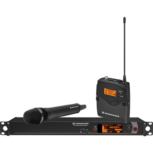 Sennheiser 2000 Series Single Handheld Wireless Microphone System (Aw: 516 to 558 MHz)