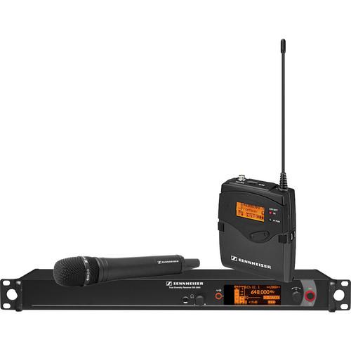 Sennheiser 2000 Series Single Handheld Wireless Microphone System (Black MMK965 Capsule)