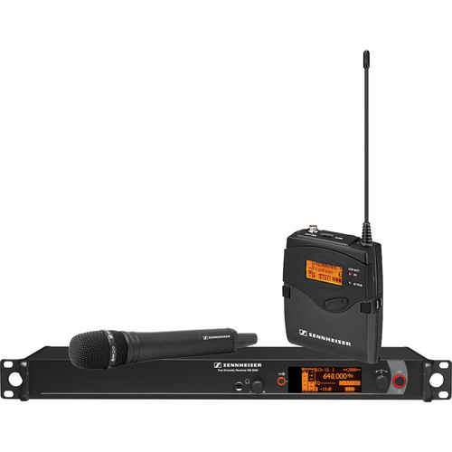 Sennheiser 2000 Series Single Handheld Wireless Microphone System (Black MMK965 Capsule)