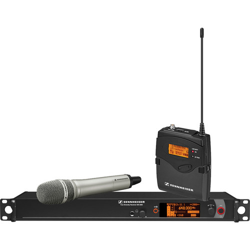 Sennheiser 2000 Series Single Handheld Wireless Microphone System (Nickel MMK 965)