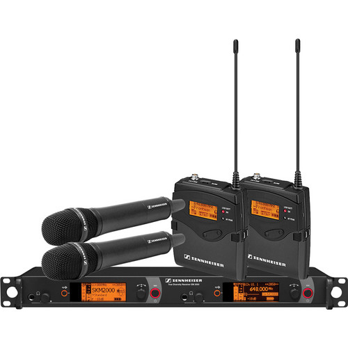 Sennheiser 2000 Series Dual Combo Wireless Microphone System (A: 516 to 558 MHz)