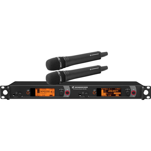 Sennheiser 2000 Series Dual Handheld Wireless Microphone System (Black MMK 965)