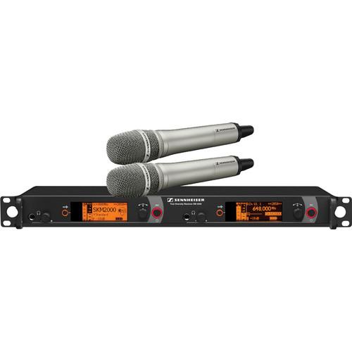 Sennheiser 2000 Series Dual Handheld Wireless Microphone System (Nickel MMK 965)