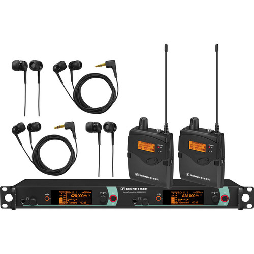 Sennheiser Dual Channel Stereo IEM System G (558 - 626 MHz)