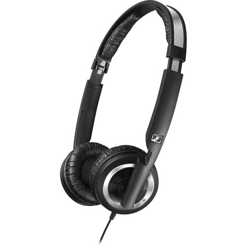Sennheiser PX 200-IIi On-Ear Stereo Headphones with Microphone (Black)