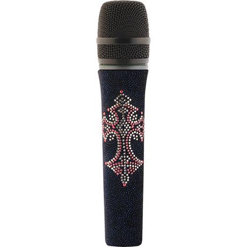 Sennheiser Pink Cross and Dark Blue Velvet Skin for Evolution Handheld Microphones