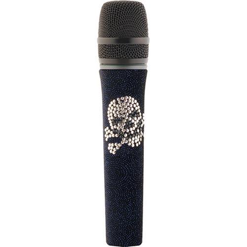Sennheiser Pink Skull and Dark Blue Velvet Skin for Evolution Handheld Microphones