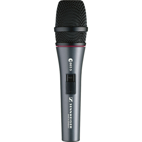Sennheiser e 865S Handheld Supercardioid Condenser Microphone with On/Off Switch