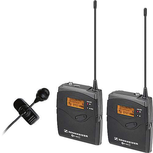Sennheiser ew 122-p G3 Camera Mount Wireless Microphone System with ME 4 Lavalier Mic - G (566-608 MHz)