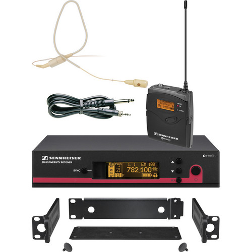 Sennheiser ew 172 G3 Wireless Instrument & Earset System with GA3 Rackmount Kit (Beige) - A (516-558 MHz)