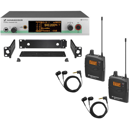 Sennheiser ew 300-2 IEM G3 Wireless Stereo Audio Monitoring System (B: 626-668MHz)