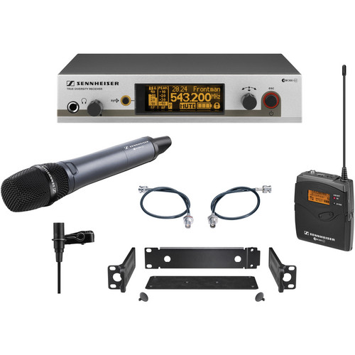 Sennheiser EW312/345 G3 Wireless System with Handheld and Lavalier Microphones (G: 566-608MHz)