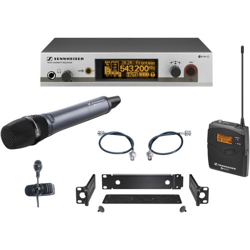 Sennheiser EW322/365 G3 Wireless System with Handheld and Lavalier Microphones (A: 516-558MHz)