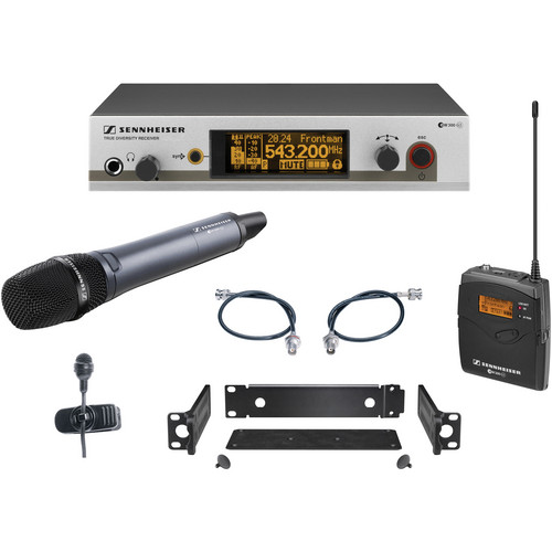 Sennheiser EW322/365 G3 Wireless System with Handheld and Lavalier Microphones (G: 566-608MHz)
