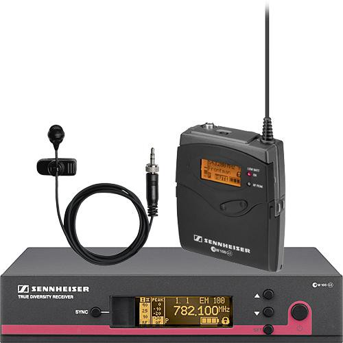 Sennheiser ew 114 G3 LE Wireless Bodypack Microphone System with ME 4 Lavalier Mic - B2 (626-662 MHz)