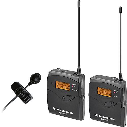 Sennheiser ew 122-p G3 Camera Mount Wireless Microphone System with ME 4 Lavalier Mic - A (516-558 MHz)