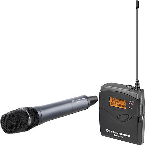 Sennheiser ew 135-p G3 Camera Mount Wireless Microphone System with 835 Handheld Mic - B (626-668 MHz)