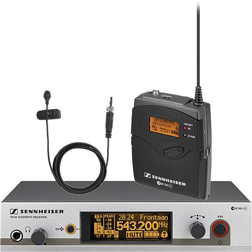 Sennheiser EW312 G3 Wireless Bodypack Microphone System with ME2 Lavalier Mic (G: 566 to 608 MHz)