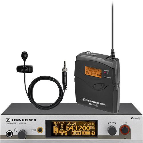 Sennheiser EW322 G3 Wireless Bodypack Microphone System with ME4 Lavalier Mic (B: 626 to 668 MHz)