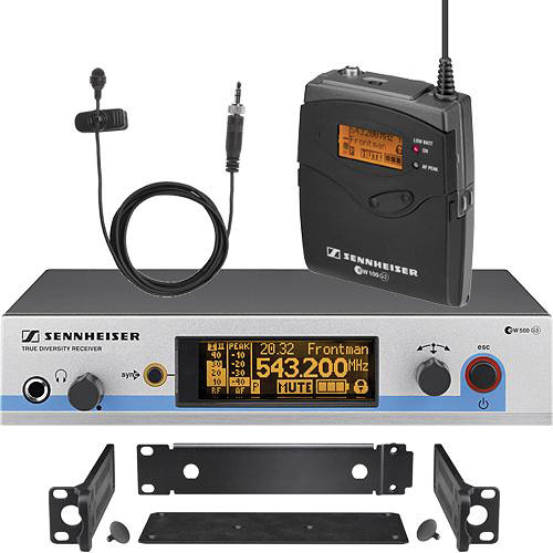 Sennheiser EW512 G3 Wireless Bodypack Microphone System with MKE-2 Gold Lavalier Mic (G: 566 to 608 MHz)