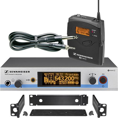 Sennheiser EW572 G3 Wireless Instrument System with Ci 1 Guitar Cable (B: 626 to 668 MHz)