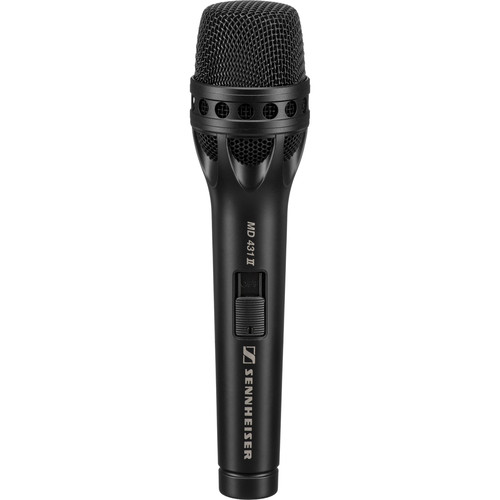 Sennheiser MD431 II Handheld Supercardioid Dynamic Microphone with On/Off Switch