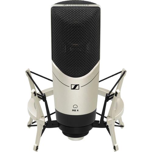 Sennheiser MK 4 Studio Condenser Microphone with Elastic Shockmount