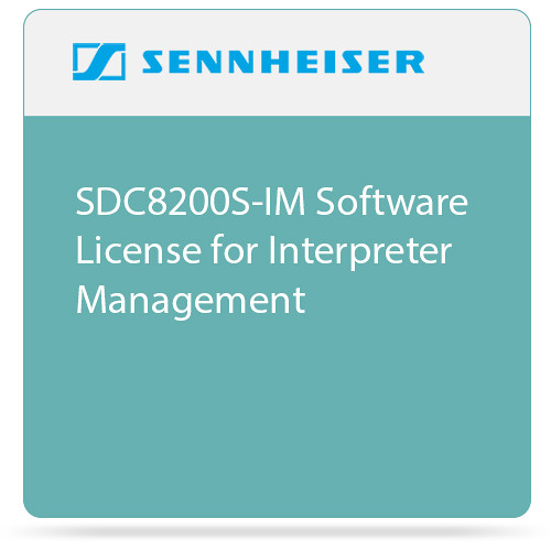 Sennheiser SDC8200S-IM  Software License for Interpreter Management